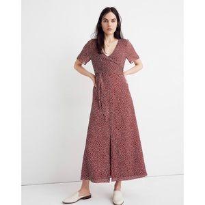 Madewell Wrap-Around Maxi Dress in Ditsy Flowers